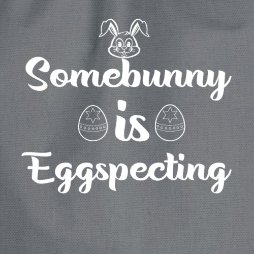 Eggspecting Easter Pregnancy Announcement Shirt - Drawstring Bag