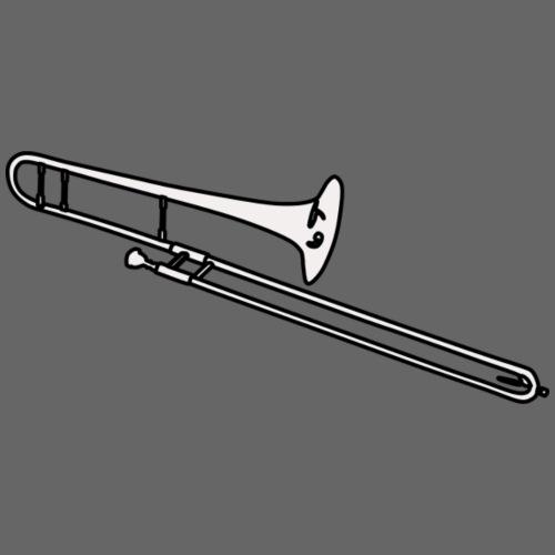 Silueta trombón en blanco - Mochila saco