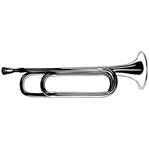 Trompeta blanco y negro - Mochila saco