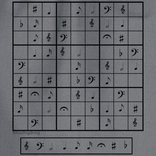 Sudoku musical1 - Mochila saco