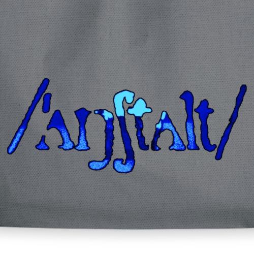 /'angstalt/ logo gerastert (blau/schwarz) - Turnbeutel