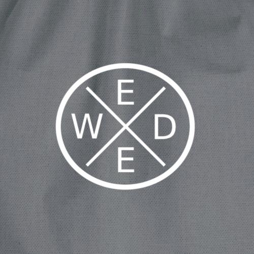 W-E-E-D Logo Weiss Groß - Turnbeutel