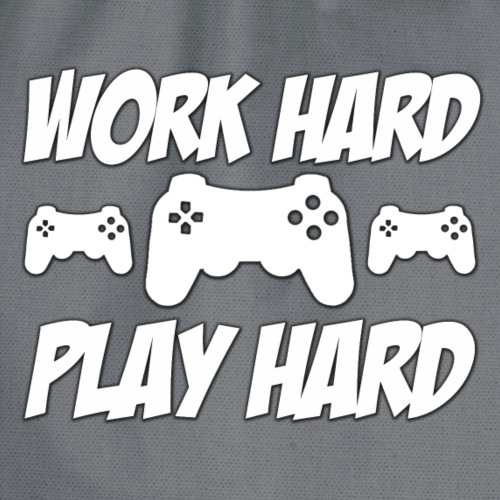 Work Hard Play Hard - Drawstring Bag