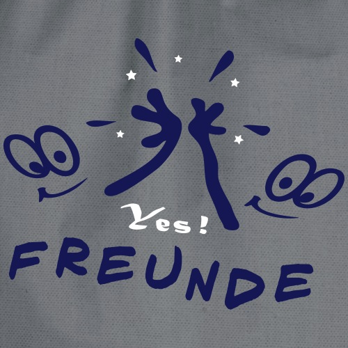 Freunde, Freundschaft, Friends - Turnbeutel
