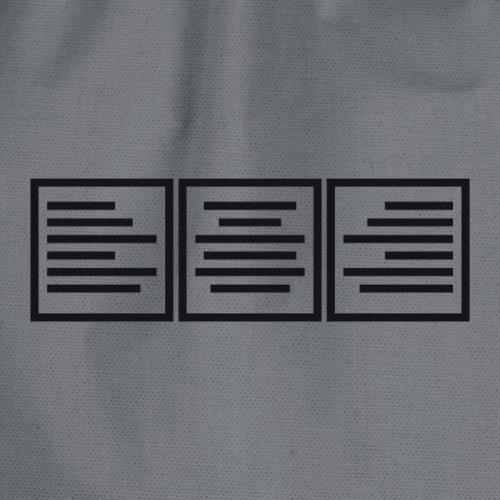 Textausrichtung - Turnbeutel