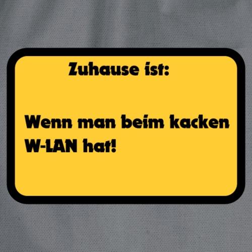 W-LAN Spruch für Zuhause - Turnbeutel