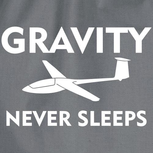 Schwerkraft Segelflugzeug gleiten Segelfleiger - Turnbeutel