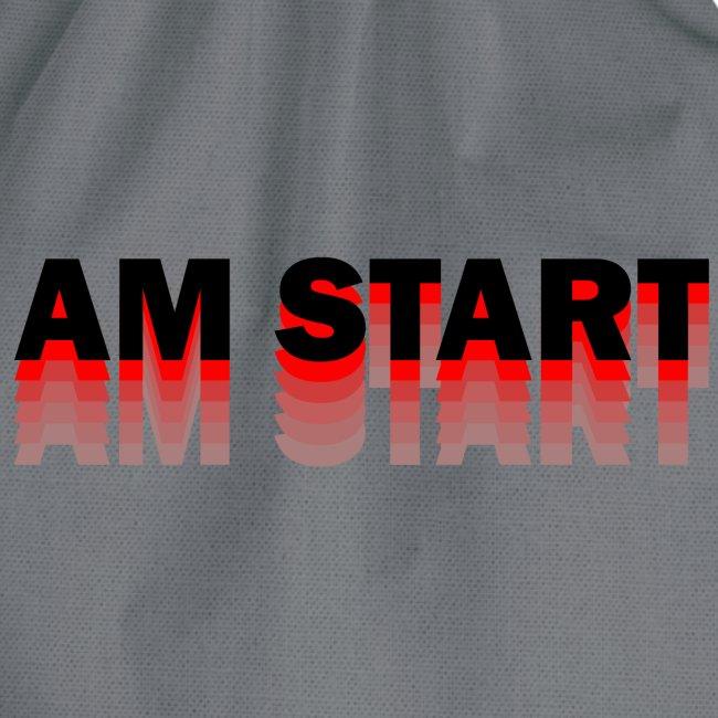 am Start - rot schwarz faded