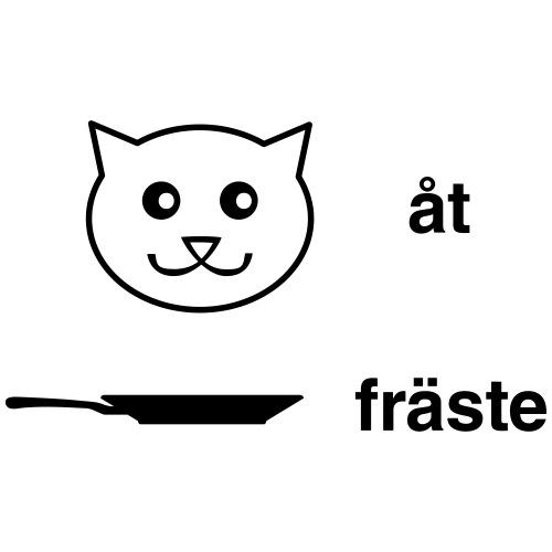 Katt åt stekpanna - Gymnastikpåse