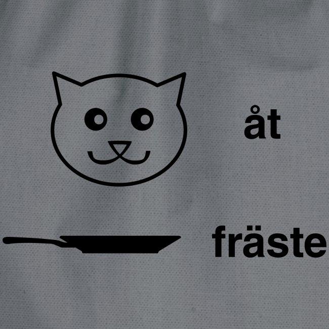 Katt åt stekpanna