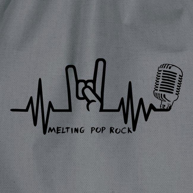 Logo noir Melting Pop Rock