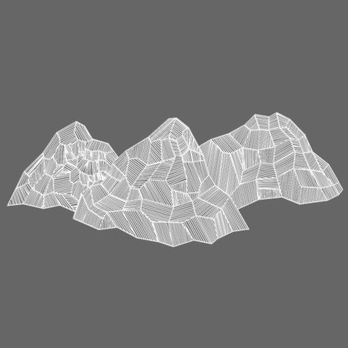 3 Berge Abstrakt Weiss - Turnbeutel