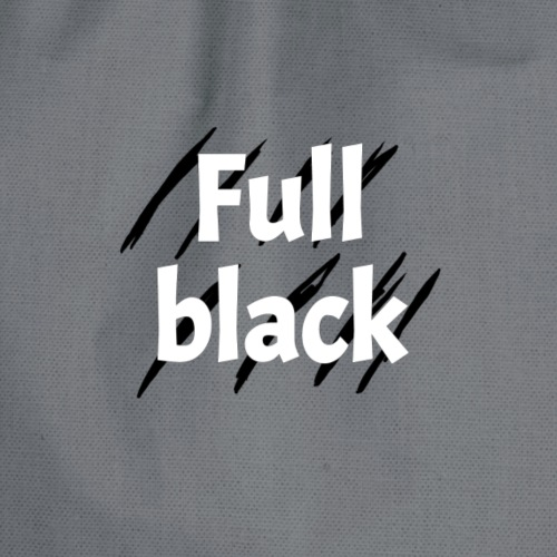 Full black logo - Sportstaske