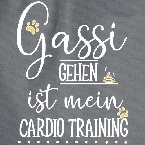 Gassi gehen Cardio - Turnbeutel