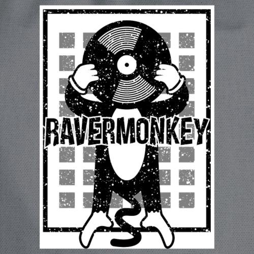 House Music Drum and Bass Techno Dj Ravermonkey - Drawstring Bag