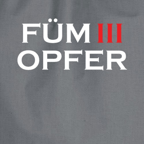 FÜM 3 Opfer - Wiener Jusstudenten Uni T-Shirt - Turnbeutel