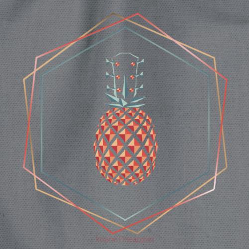 Insane Pineapples Hexagon - Turnbeutel