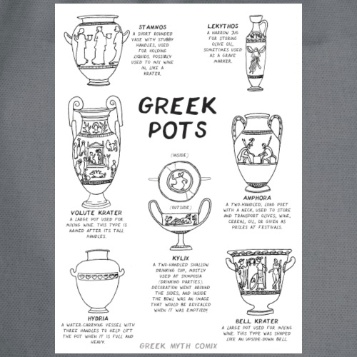 Greek Myth Comix - ALL THE POTS