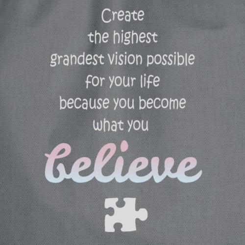 Believe in Yourself Quote Gift - Sac de sport léger