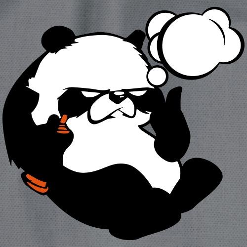 grummeliger Panda - Turnbeutel