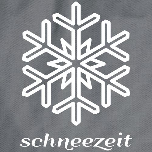 snowflake - Drawstring Bag