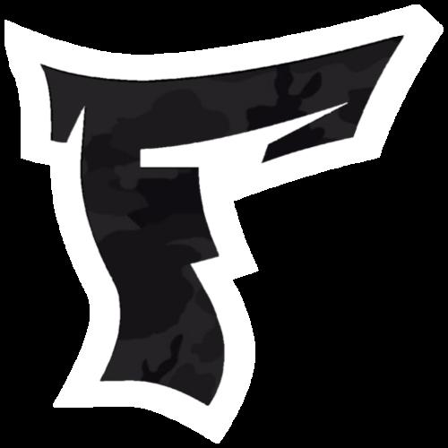 Tarnmuster mit F Logo in Weiß - Turnbeutel