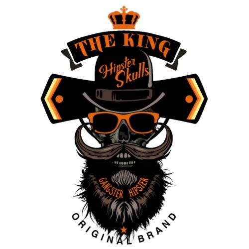 tete de mort crane roi skull hipster barbe moustac - Sac de sport léger