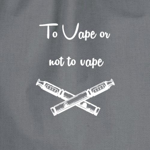 To vape or not to vape - Drawstring Bag