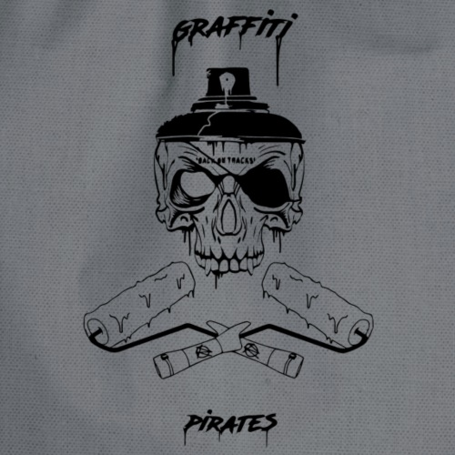graffiti piratess black - Sacca sportiva