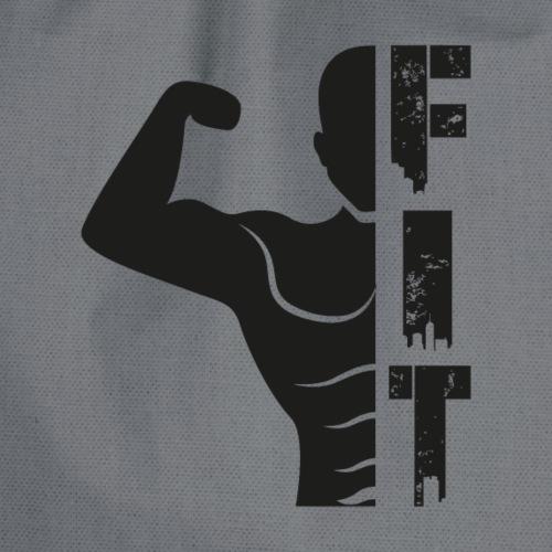 humour salle de sport muscu -Fit moitié silhouette - Sac de sport léger