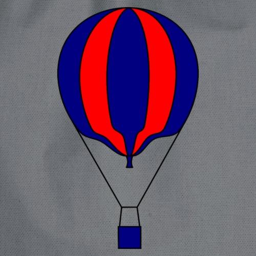 Gasballon blau rot gestreift unprall - Turnbeutel