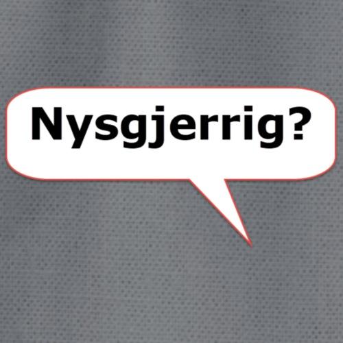 snakkeboble - nysgjerrig - Gymbag