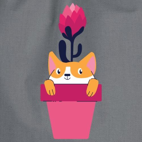 Katze im Topf - Turnbeutel