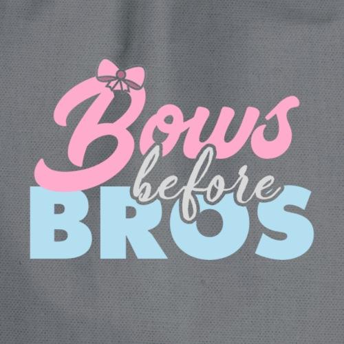 Bows Before Bros - Drawstring Bag