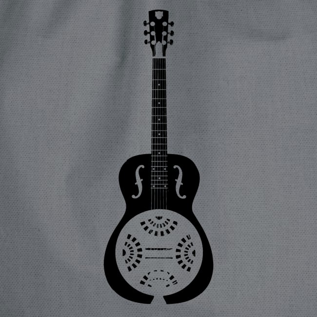 Blues Slide Guitar Stencil