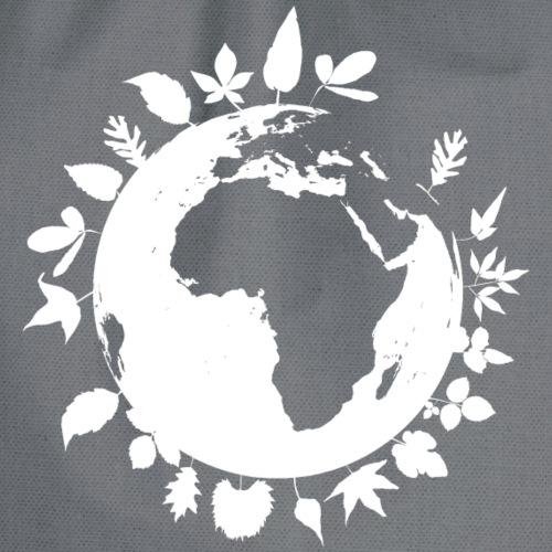 leaf globe white - Gymnastikpåse