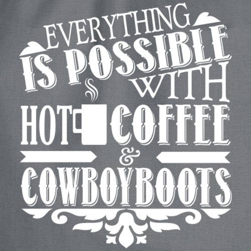 Kaffee & Cowboy Stiefel - Turnbeutel