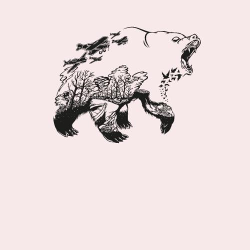 Bär Wald Natur T-Shirt - Turnbeutel
