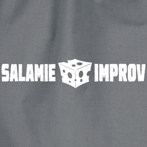 Salamie Improv + Logo (White official) - Gymtas