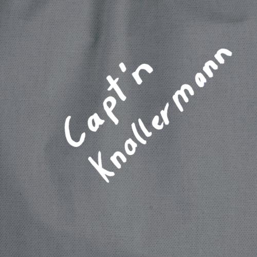 Capt'n Knallermann Schriftzug - Turnbeutel