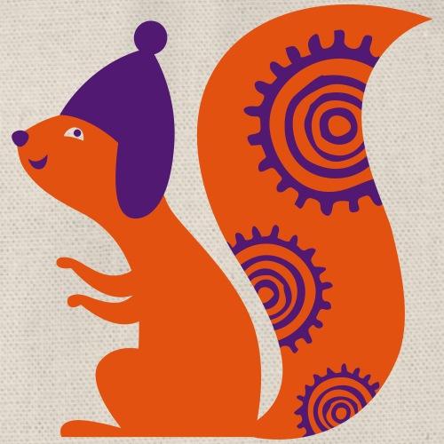 Écureuil avec un bonnet - Sac de sport léger