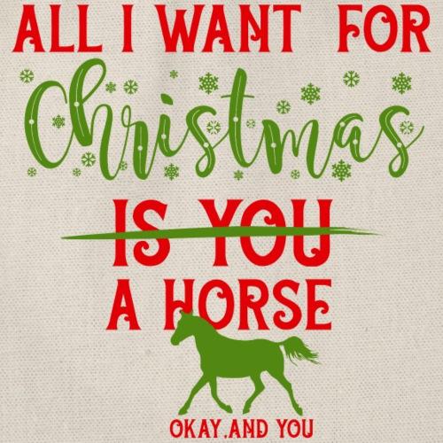 Weihnachts Wunschzettel - Pferd - Turnbeutel