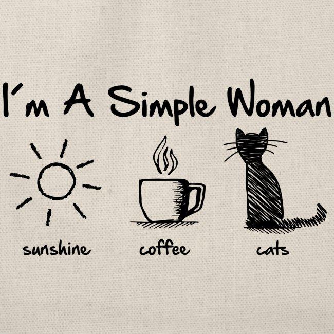 Vorschau: simple woman cats - Turnbeutel