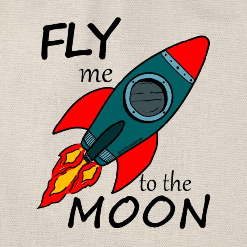Fly me to the moon - Mochila saco