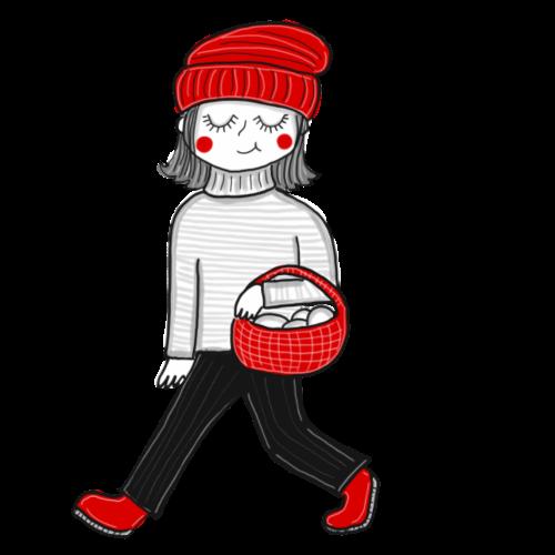 Modernes Rotkäppchen - Turnbeutel