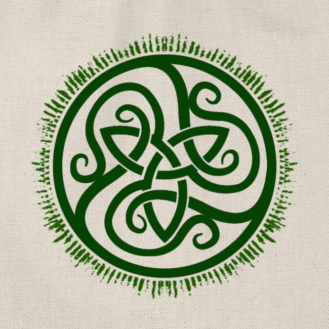 Green Celtic Triknot