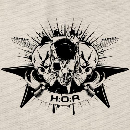H:O:A Logo Black - Turnbeutel