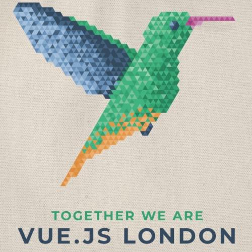 Hummingbird - Together we are Vue.js London - Drawstring Bag