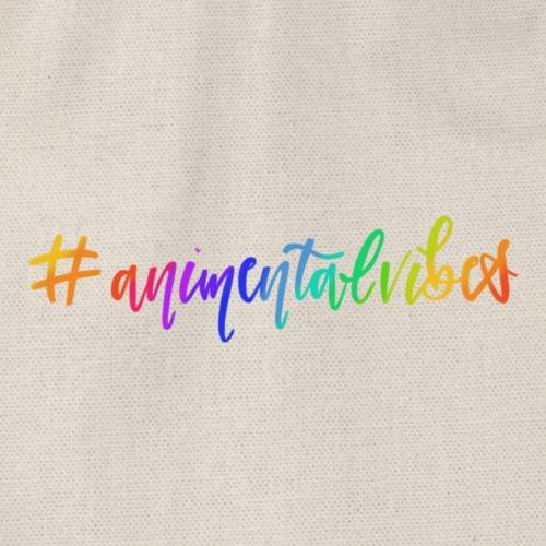 Animental Vibes Schriftzug -Rainbow - Turnbeutel