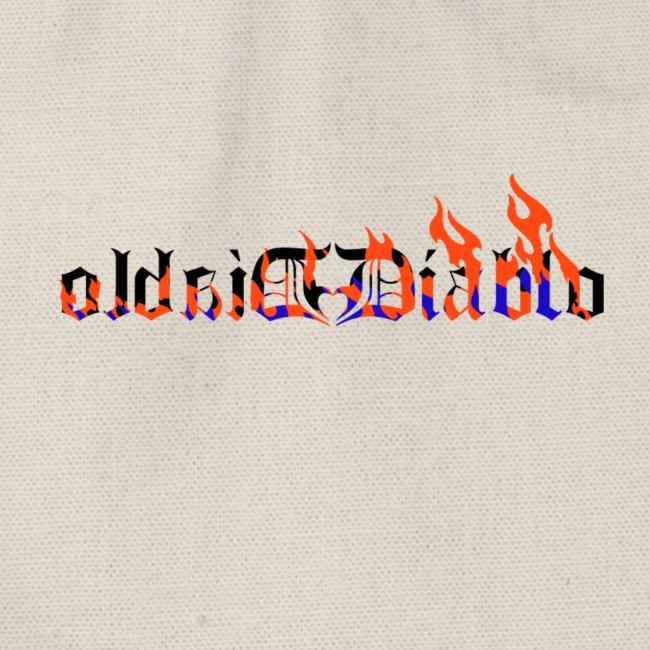 Diablo llamas Letras Goticas tatto
